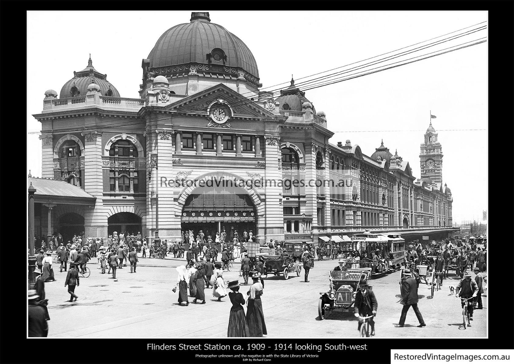 Flinders Street Station ca. 1909 to 1914