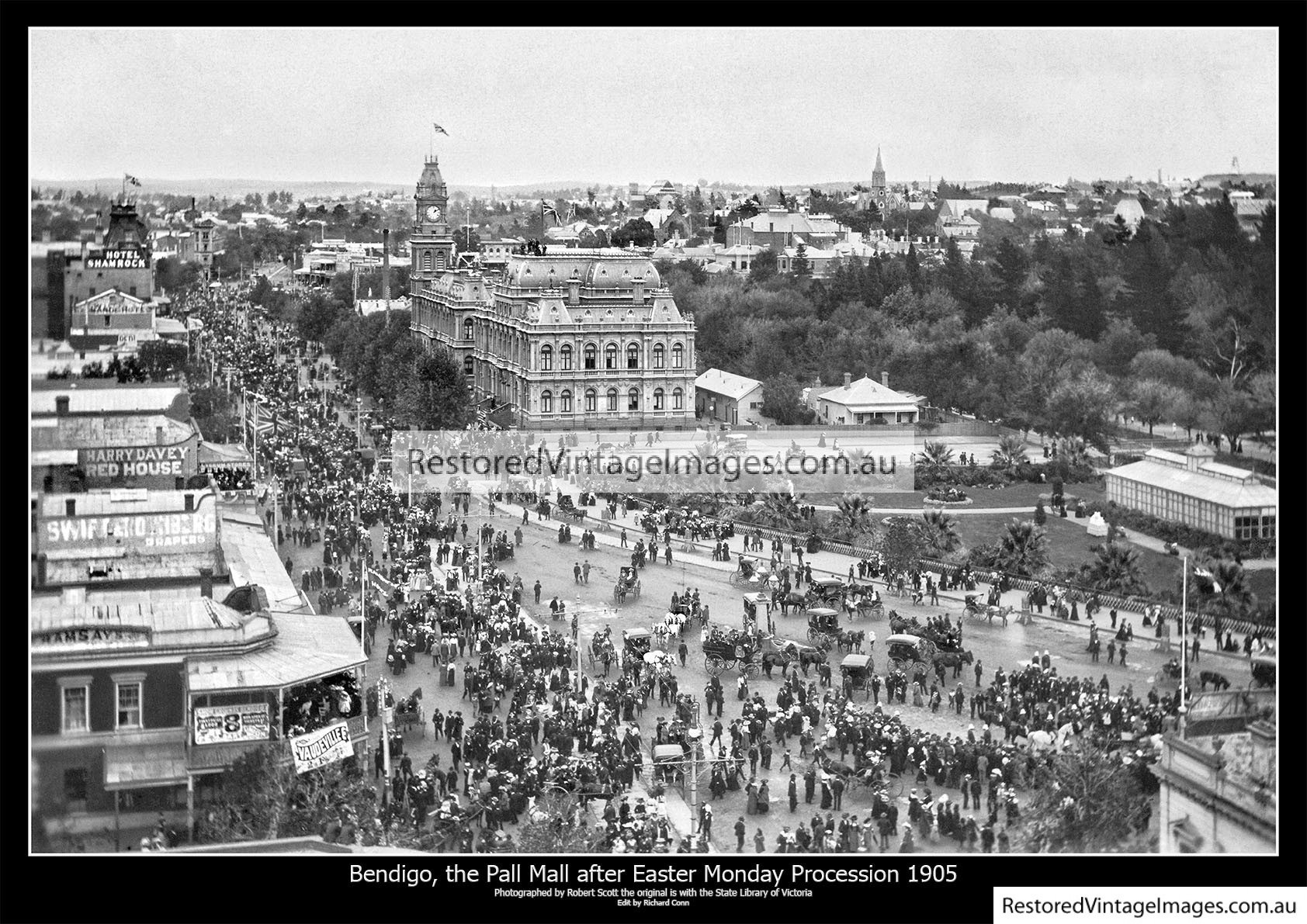 Bendigo, The Pall Mall After The Easter Monday Procession 1905