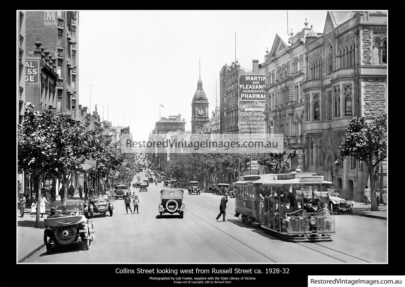 Collins Street Looking West From Russell Street Ca. 1928-32