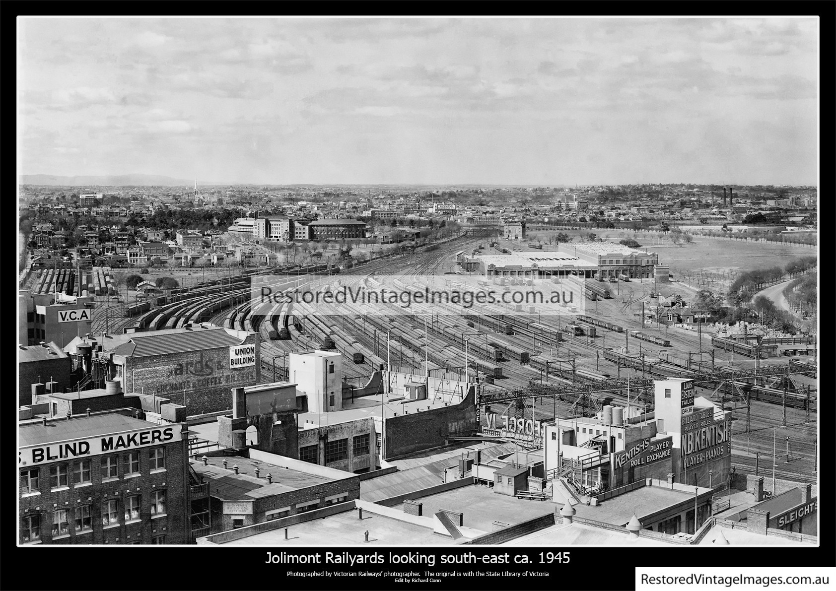 Jolimont Railyards looking south-east ca. 1945