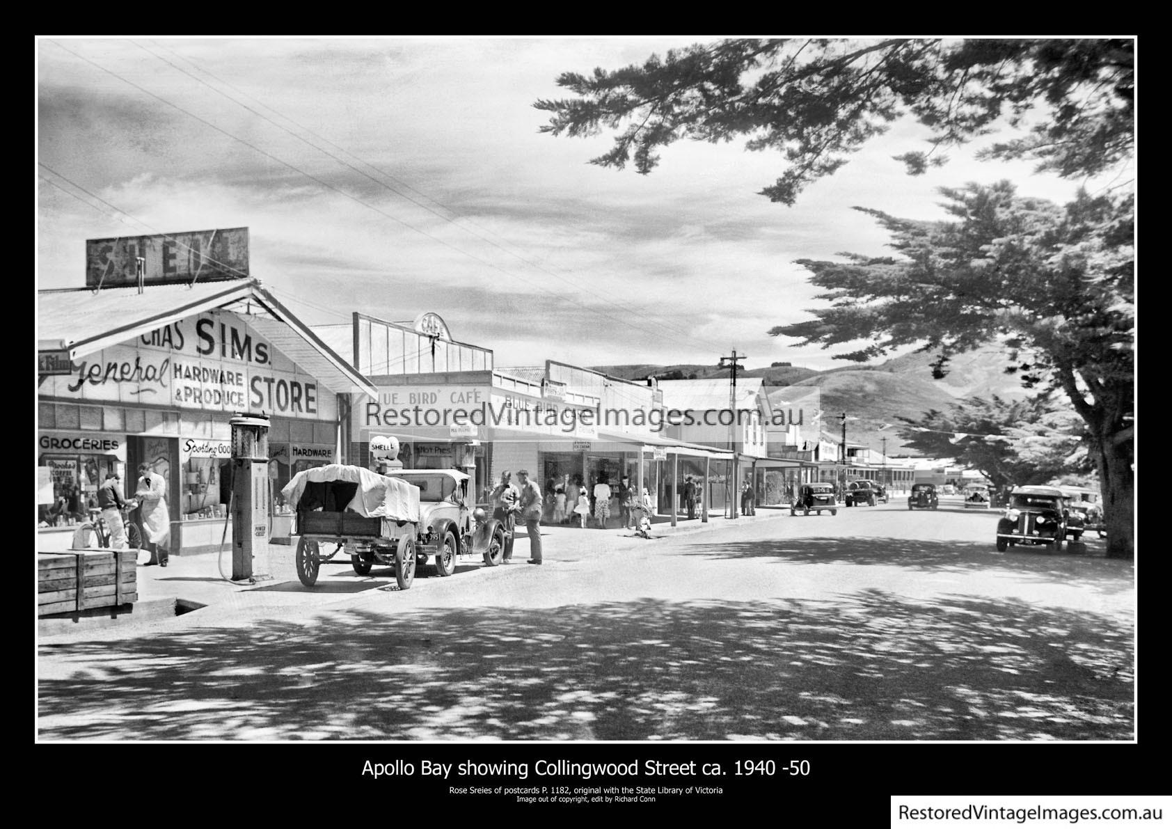 Apollo Bay Showing Collingwood Street Ca. 1940 – 50
