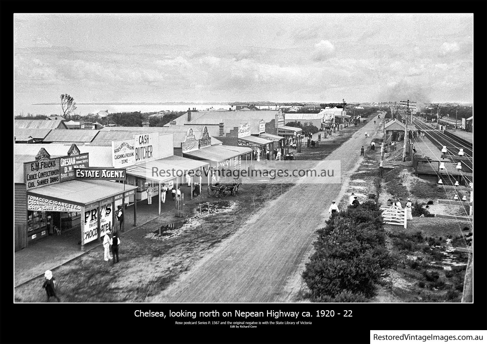 Chelsea, Looking North On The Nepean Highway Ca. 1920 – 22