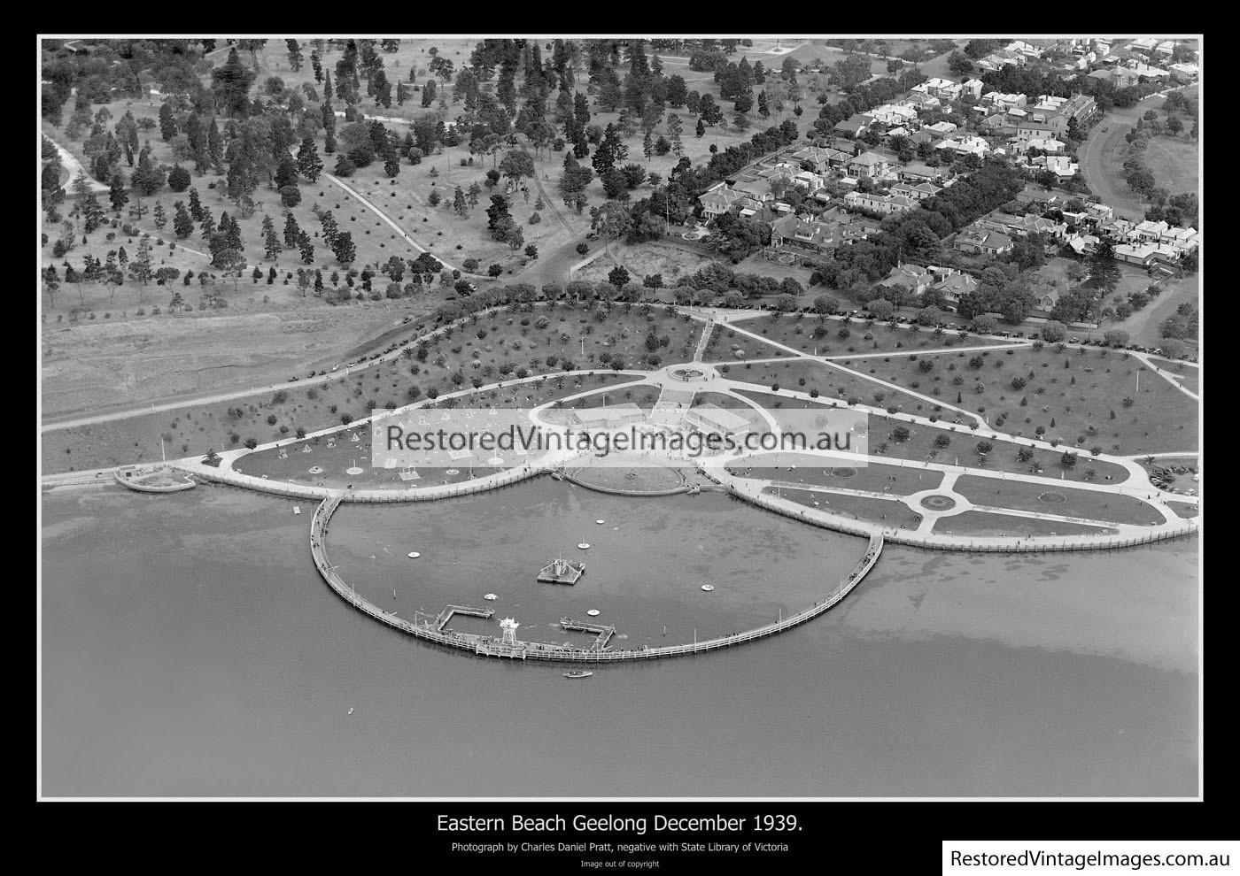 Eastern Beach Aerial Dec 1939