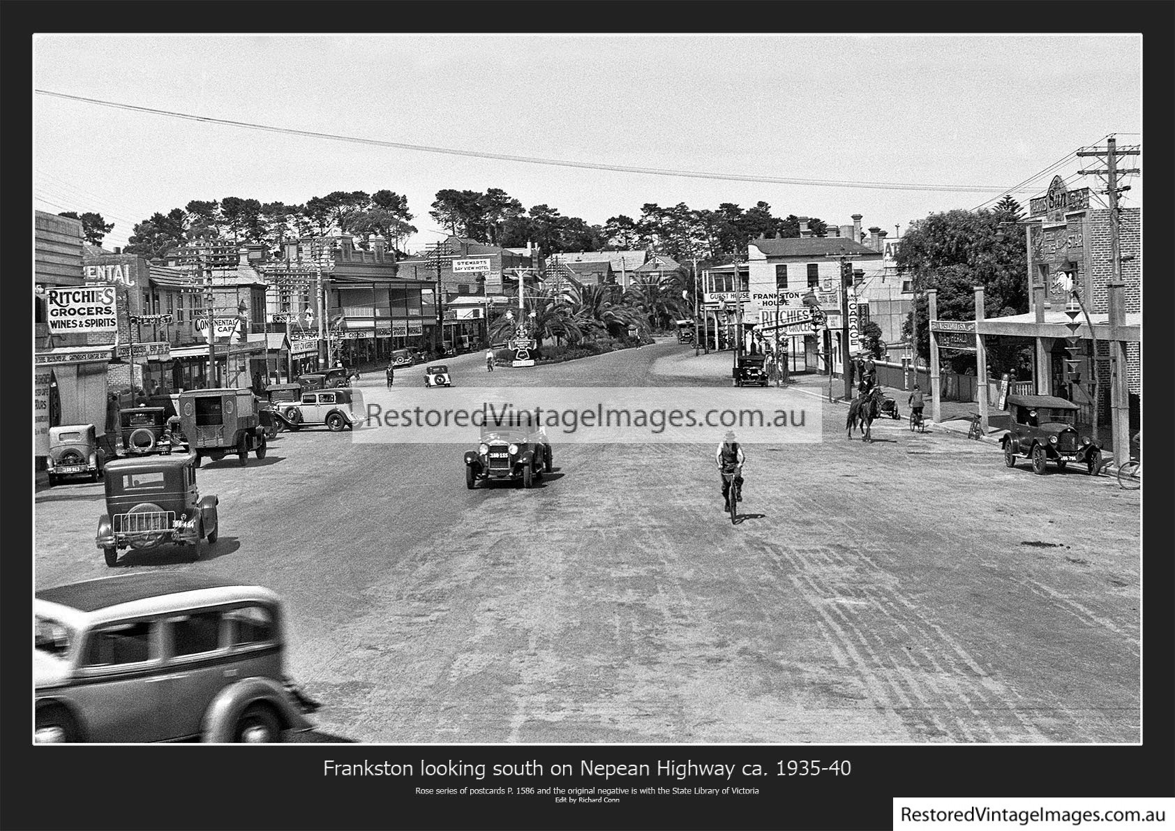 Frankston Looking South Nepean Hwy 1935 – 40