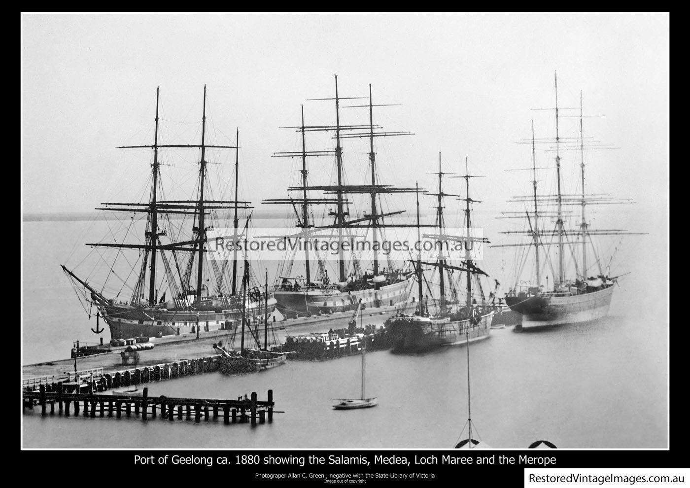 Port Of Geelong About 1880