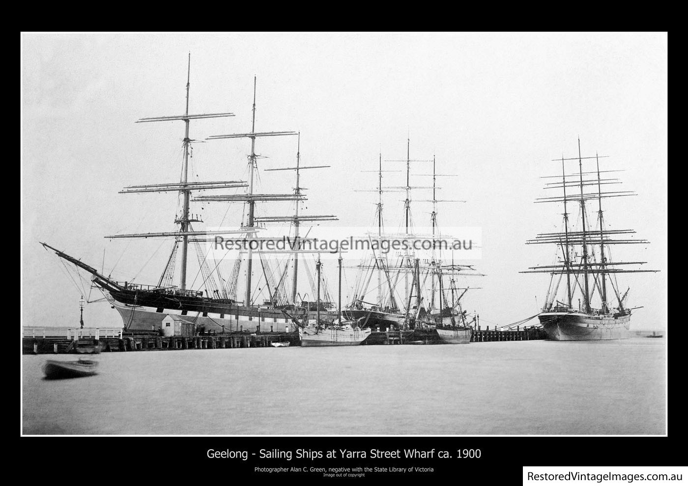 Geelong Sailing Ships 1900