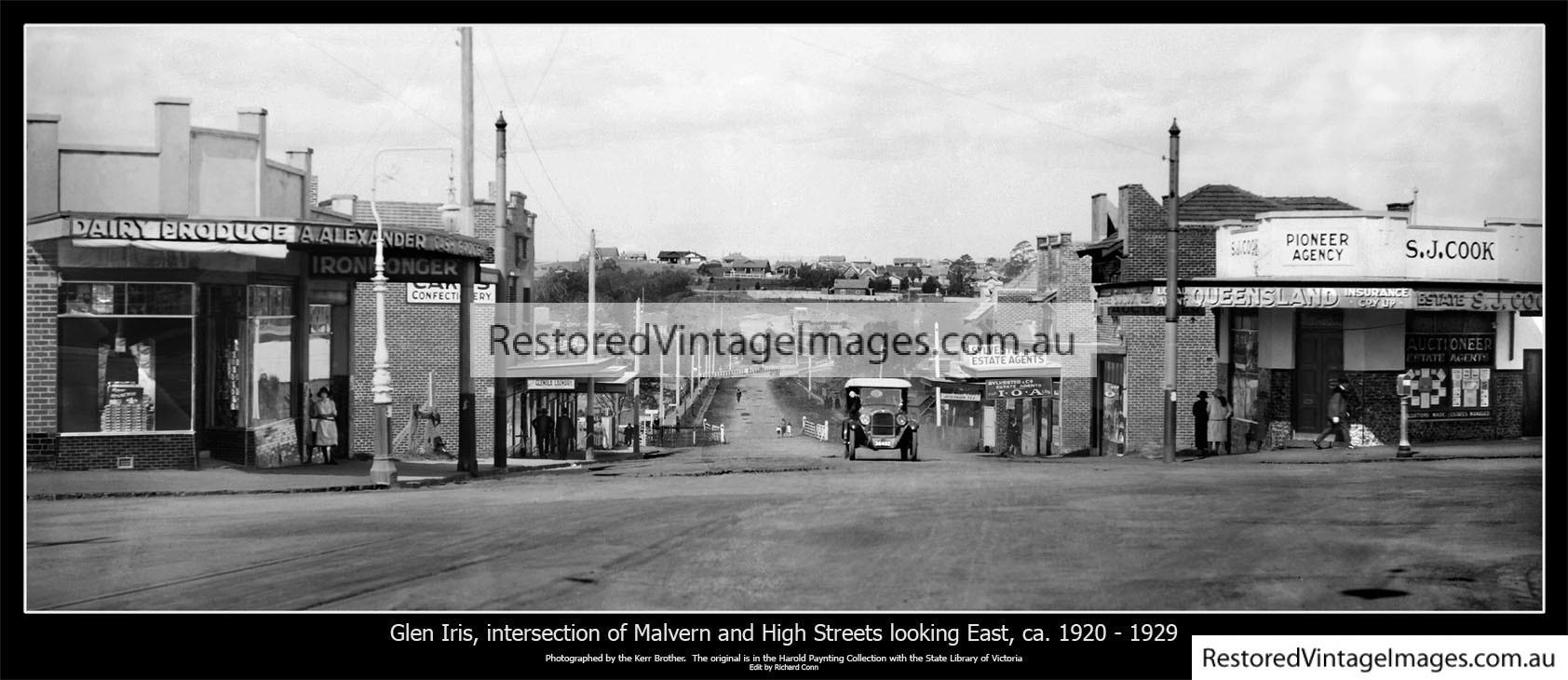 Glen Iris – High Street And Malvern Rd 1920s