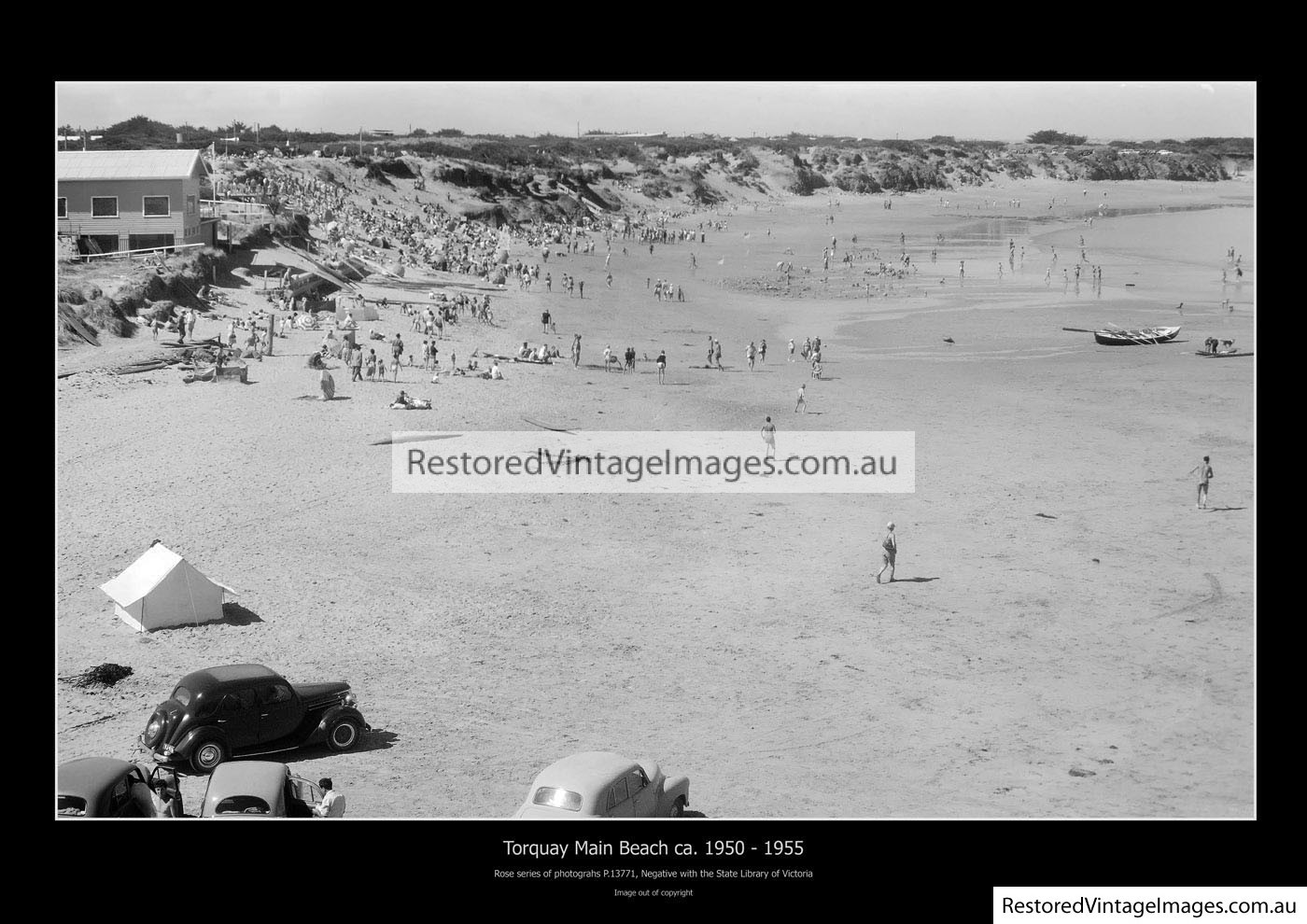 Main Surfing Beach Torquay 1920s