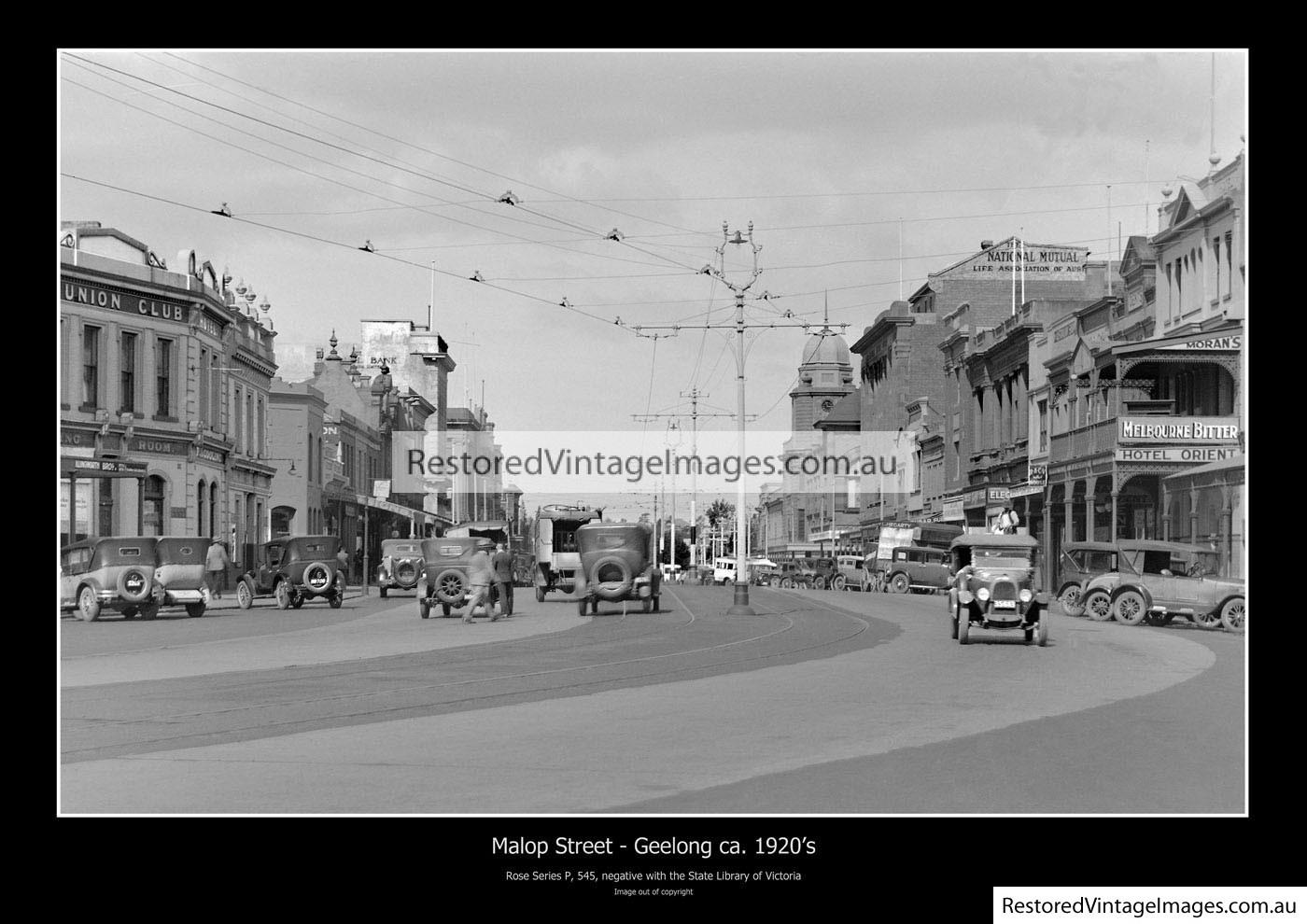 Malop Street Geelong 1920s