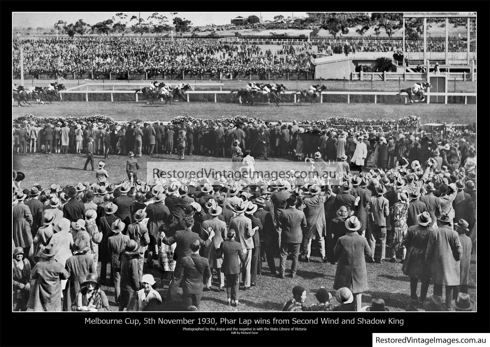 Phar Lap Winning The Melbourne Cup 1930
