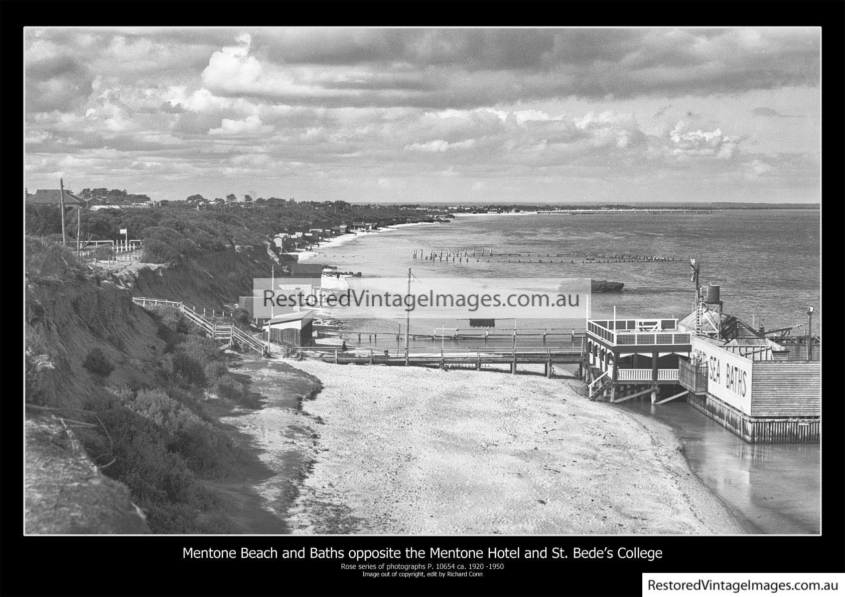 Mentone Beach And Baths By The Mentone Hotel