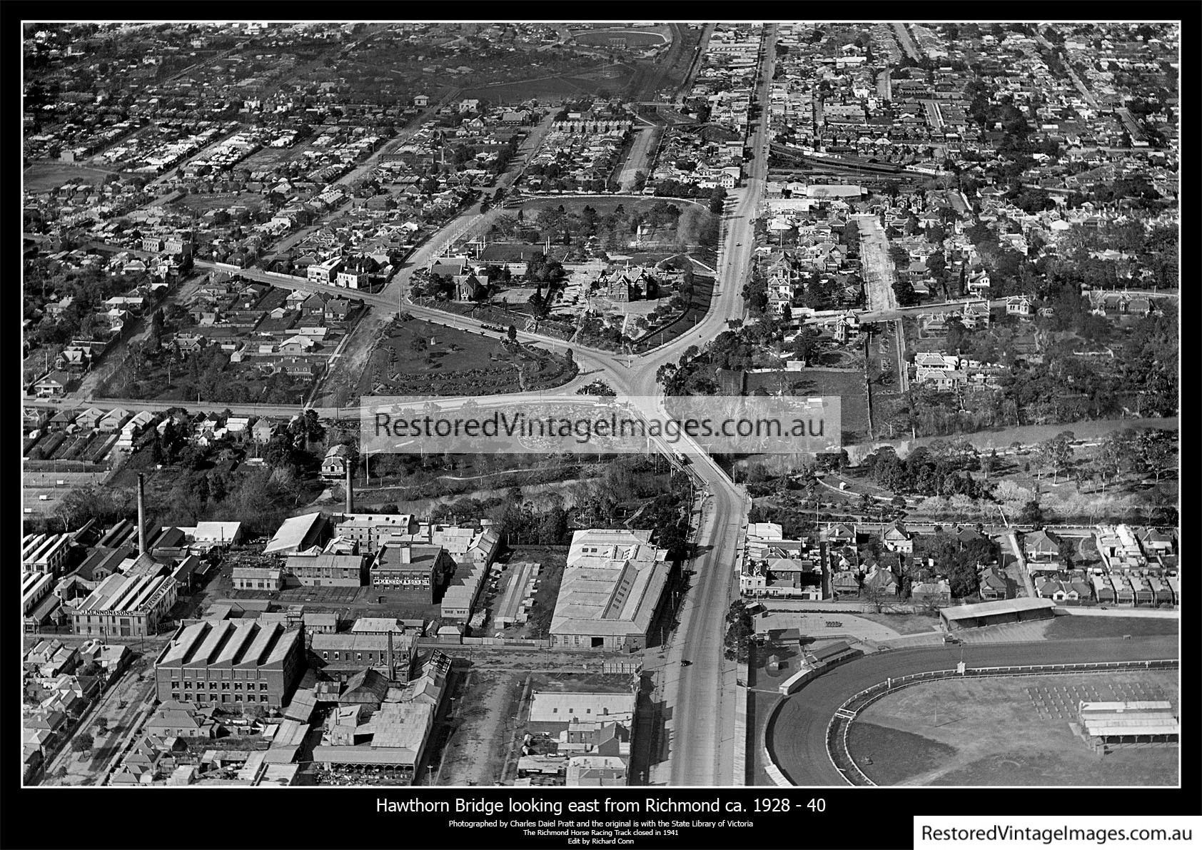 Hawthorn Bridge Richmond Looking East Into Hawthorn 1928-40