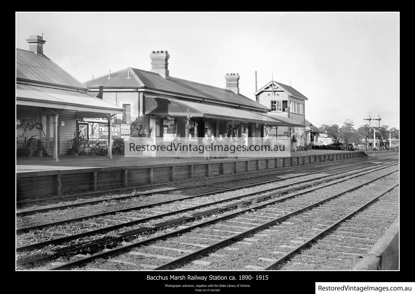 Bacchus Marsh Station 1890-1915