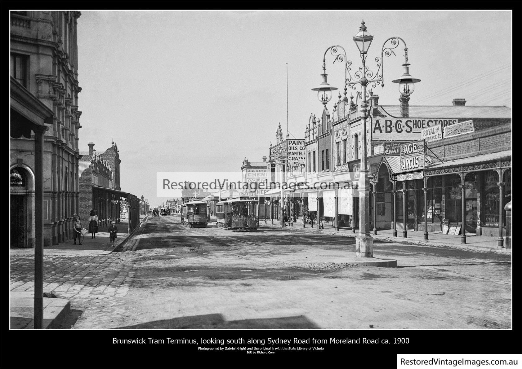 Brunswick Tram Terminus On Sydney Road – Looking South From Moreland Road Ca. 1900