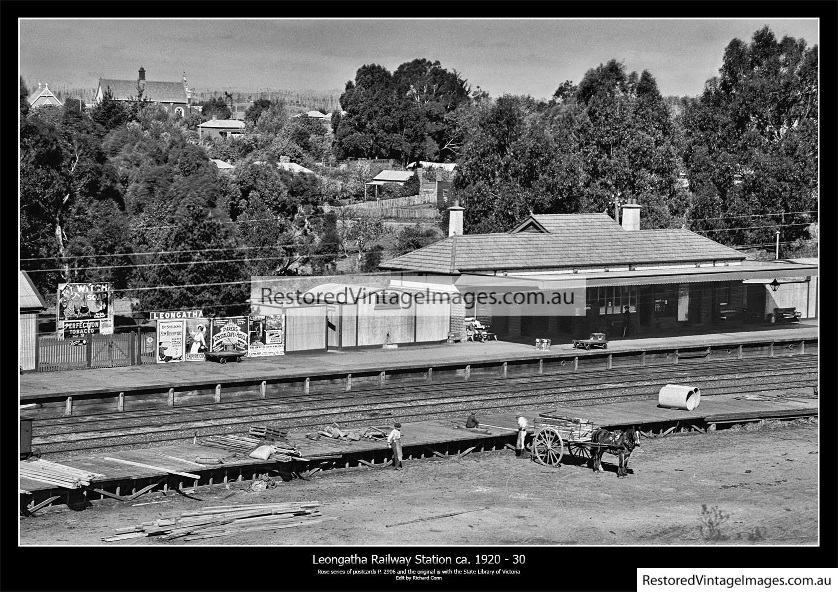 Leongatha Railway Station Ca. 1920-30