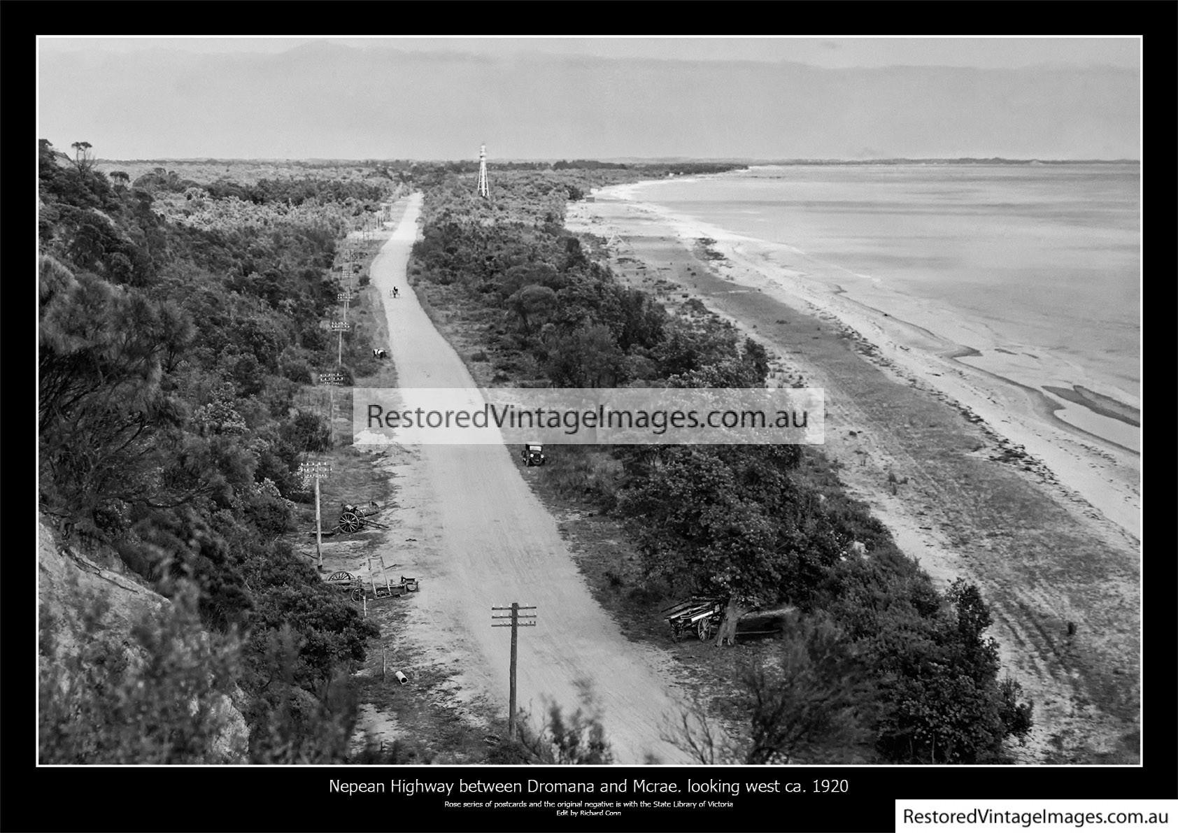 Nepean Highway Between Dromana And McCrae 1920s