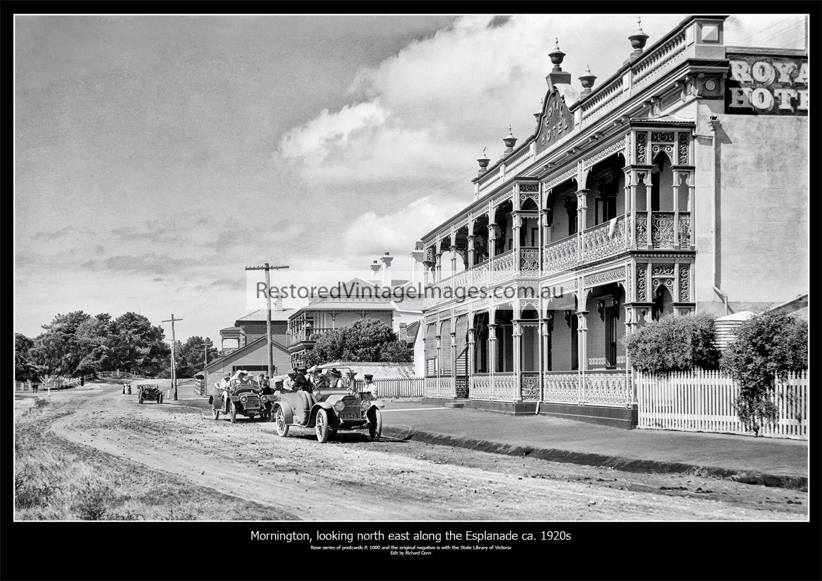 Mornington, Looking North East Along The Esplanade Ca. 1920s