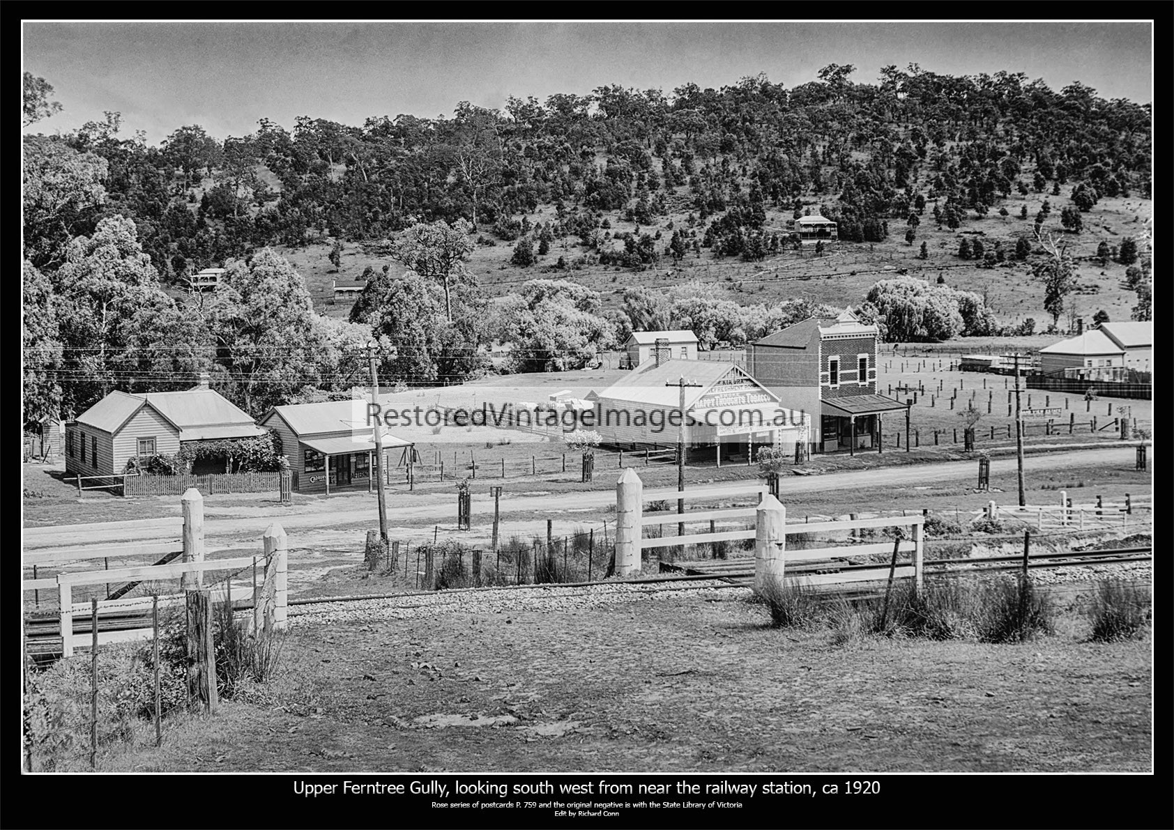 Upper Ferntree Gully, Looking South West Near The Railway Station