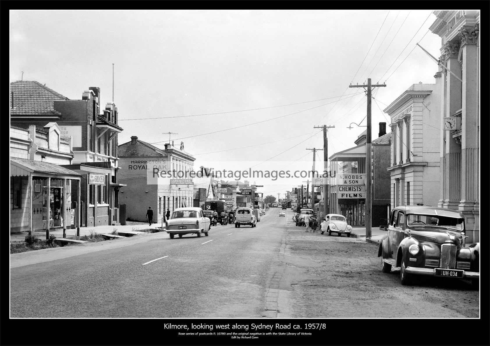 Kilmore, Looking West Along Sydney Street Ca. 1957/8
