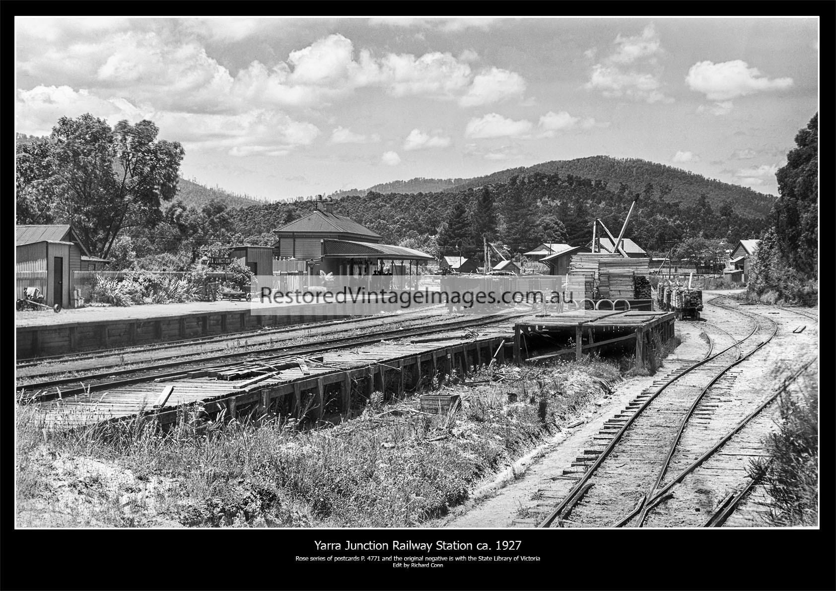 Yarra Junction Railway Station Ca. 1927