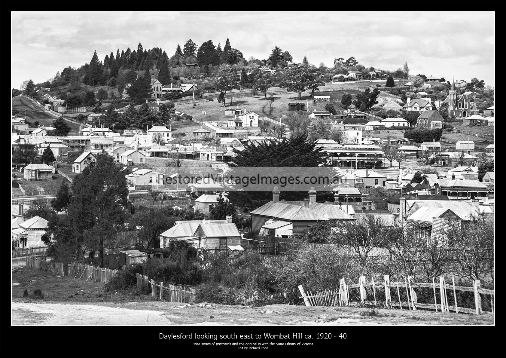 Daylesford Looking Towards Wombat Hill Ca. 1920 – 40