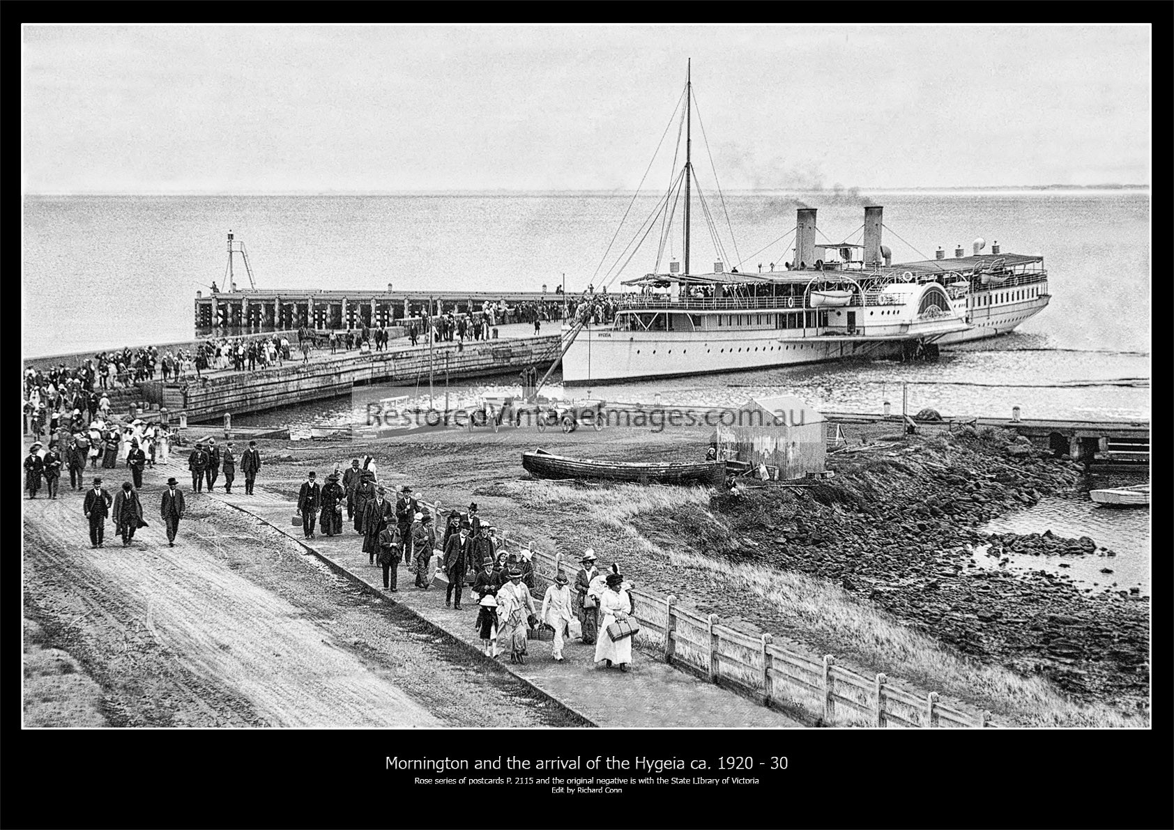 Mornington And The Arrival Of The Hygeia Ca. 1920 – 30