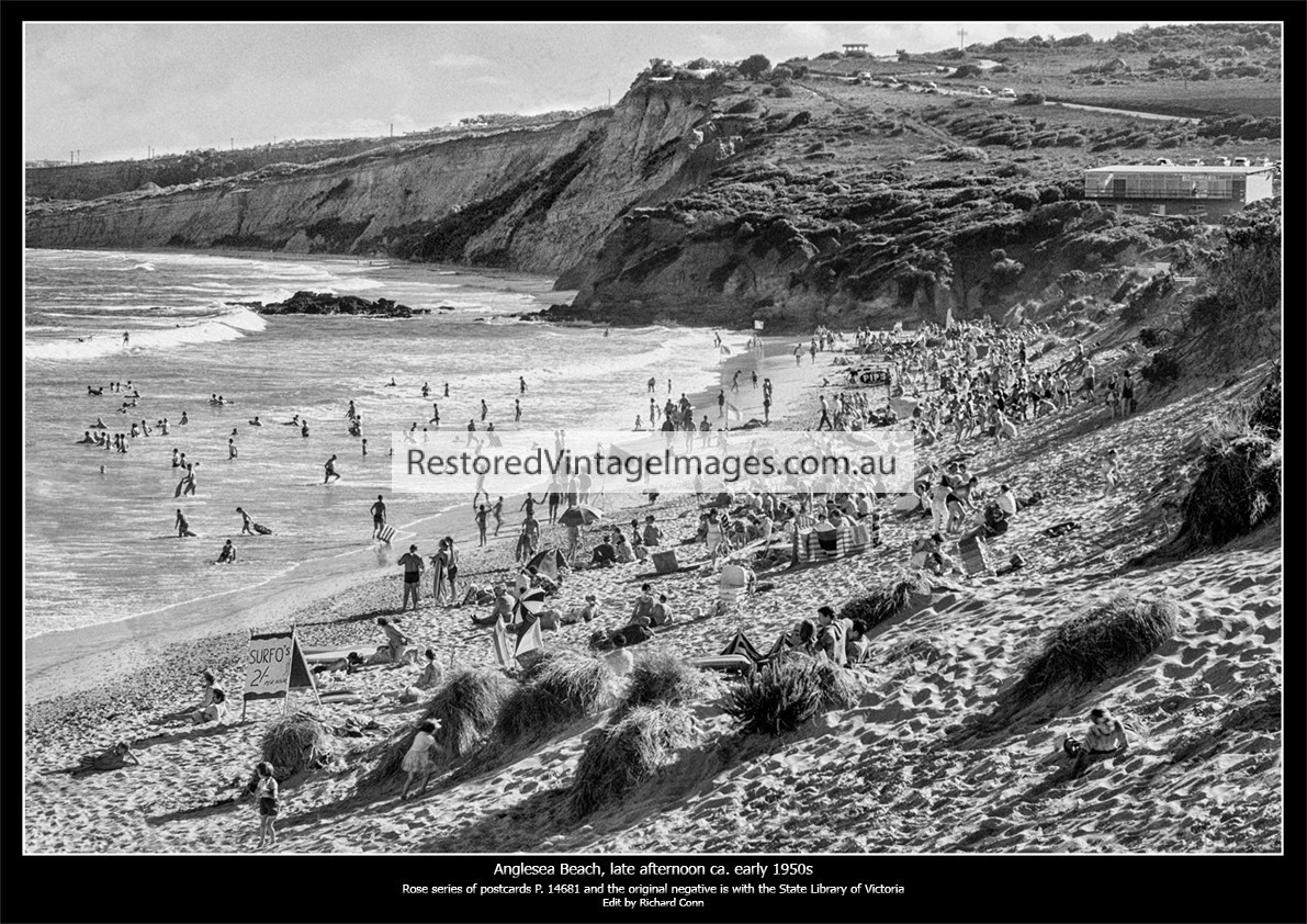Anglesea Beach Late One Afternoon In The Early 1950s