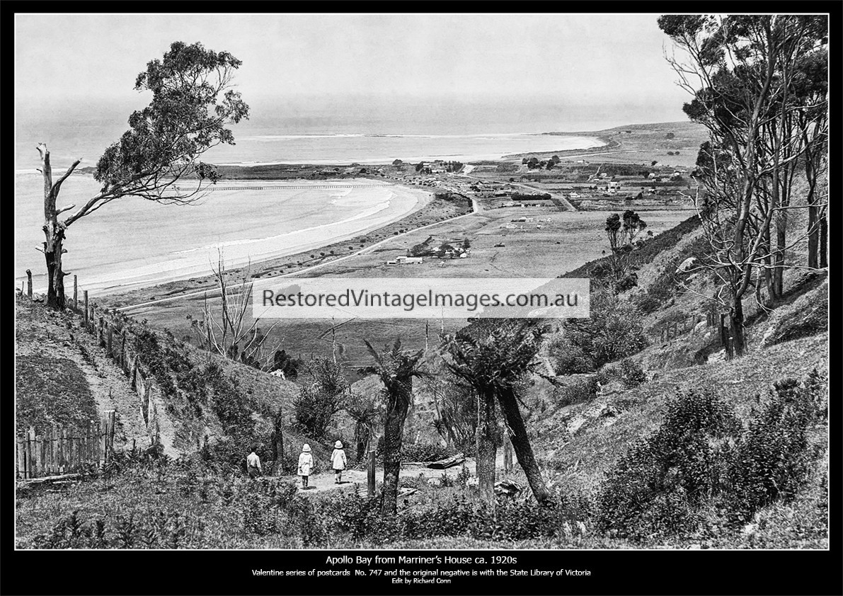Apollo Bay Looking South From Marriner's Hill Ca. 1920s