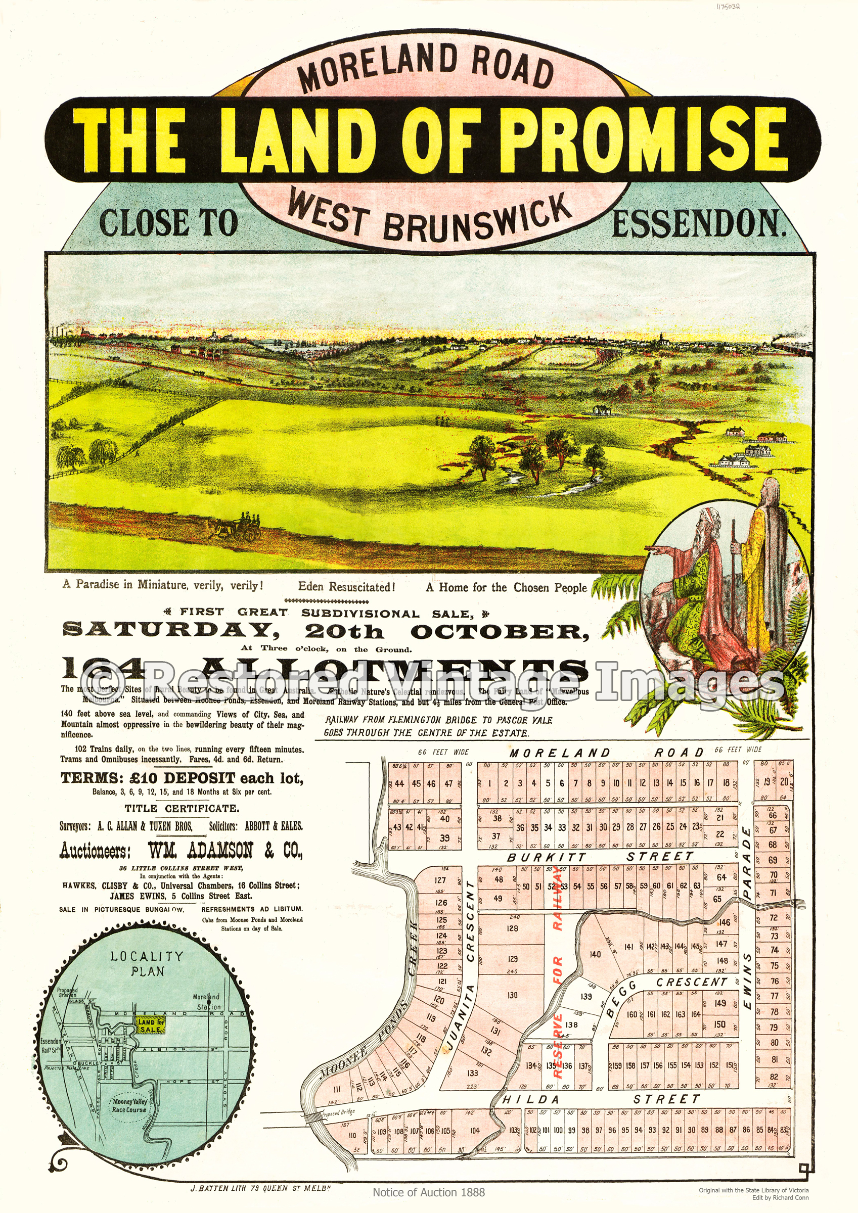 Land Of Promise 20th October 1888 – Brunswick West