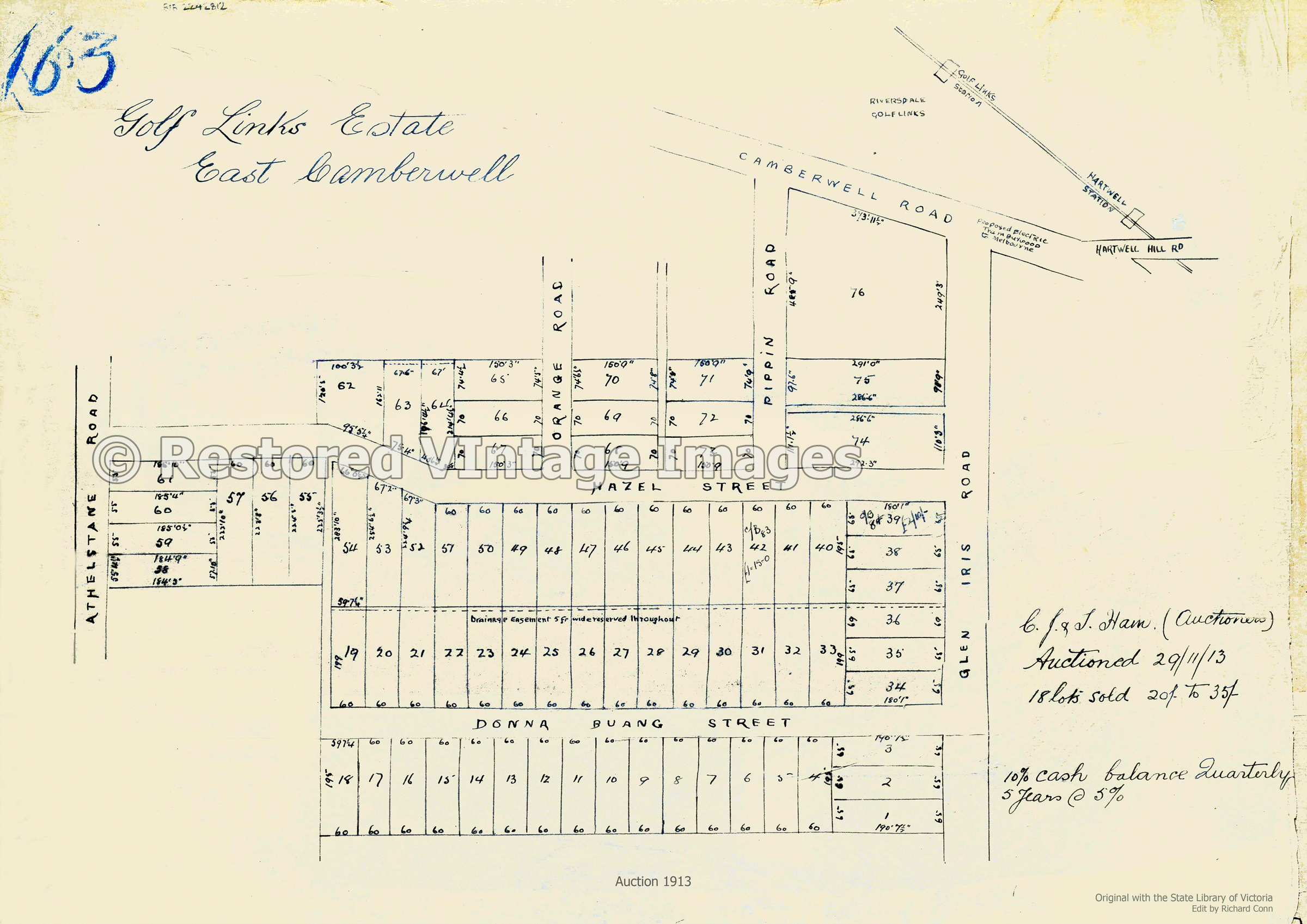 Camberwell – Golf Links Estate 1913