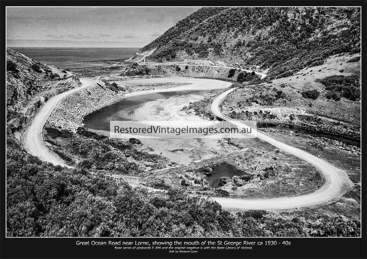 Great Ocean Road Near Lorne Ca. 1930-40s