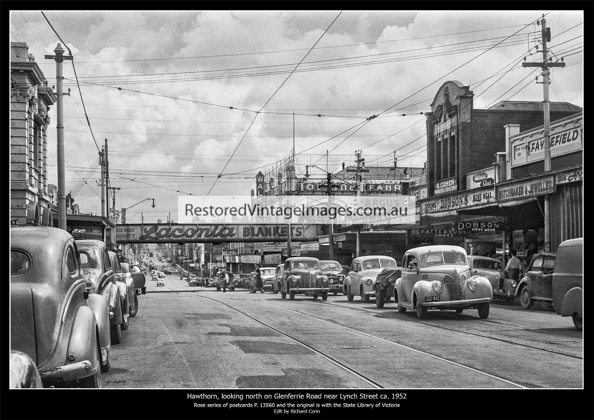 Hawthorn, Looking North On Glenferrie Road Ca. 1952