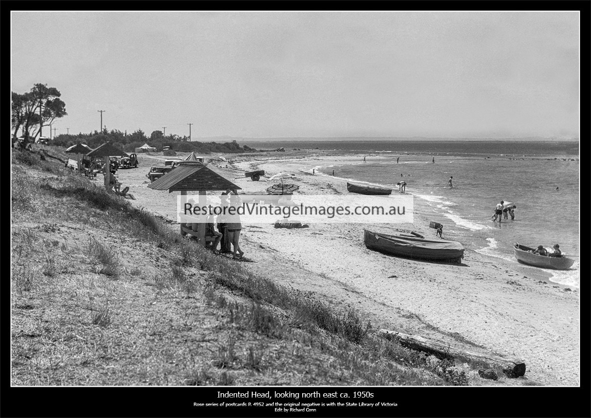 Indented Head Beach And Bathing Area Ca. 1950s
