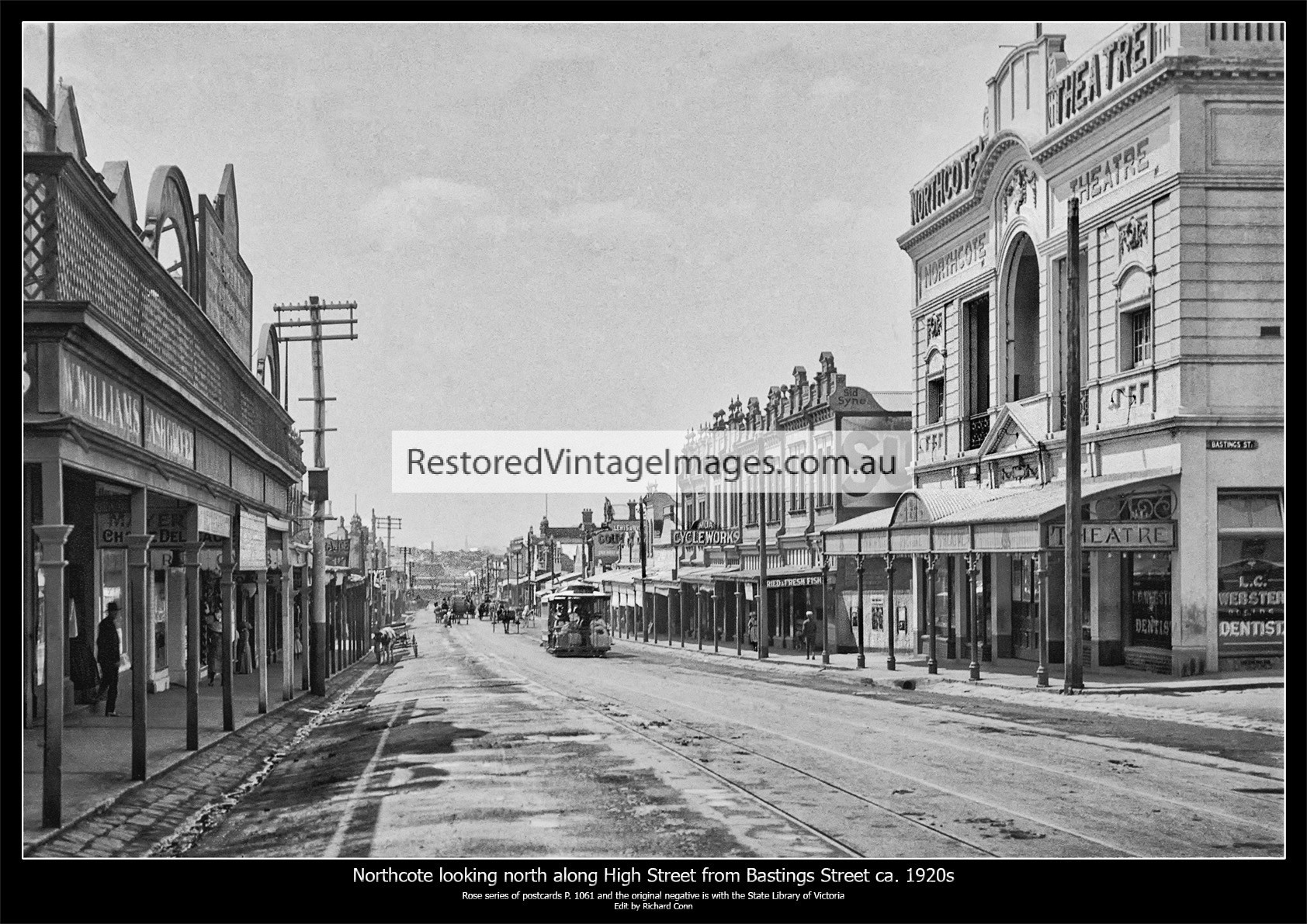 Northcote Looking North On High Street From Bastings Street Ca. 1920s