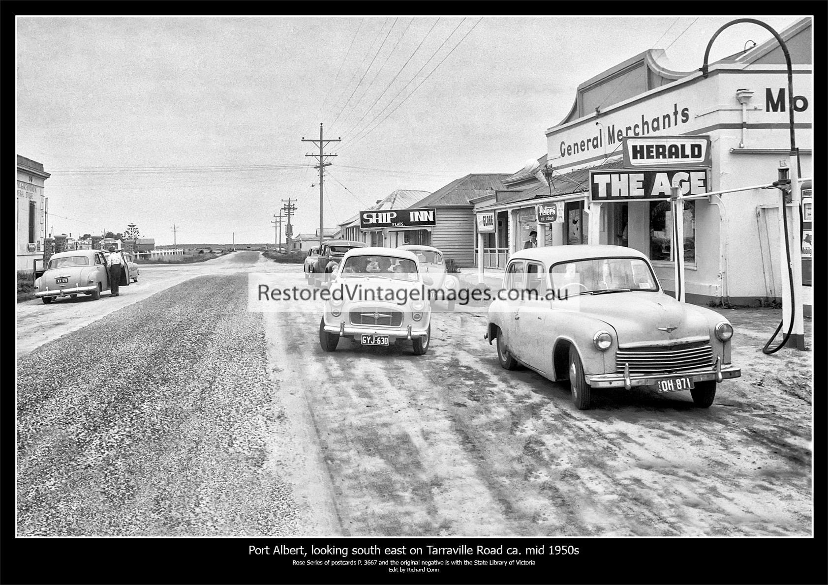Port Albert, Looking South East On Tarraville Road Ca. Mid 1950s