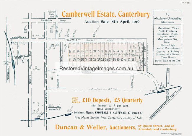 Land Auction Posters