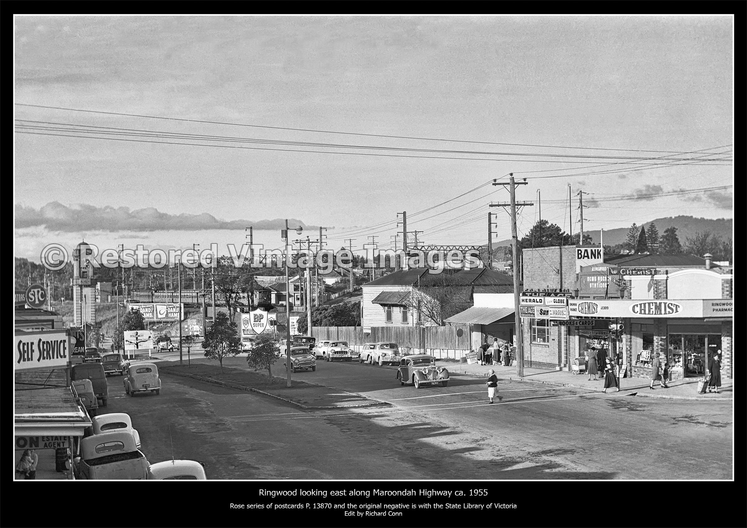 Ringwood Looking East On Maroondah Highway