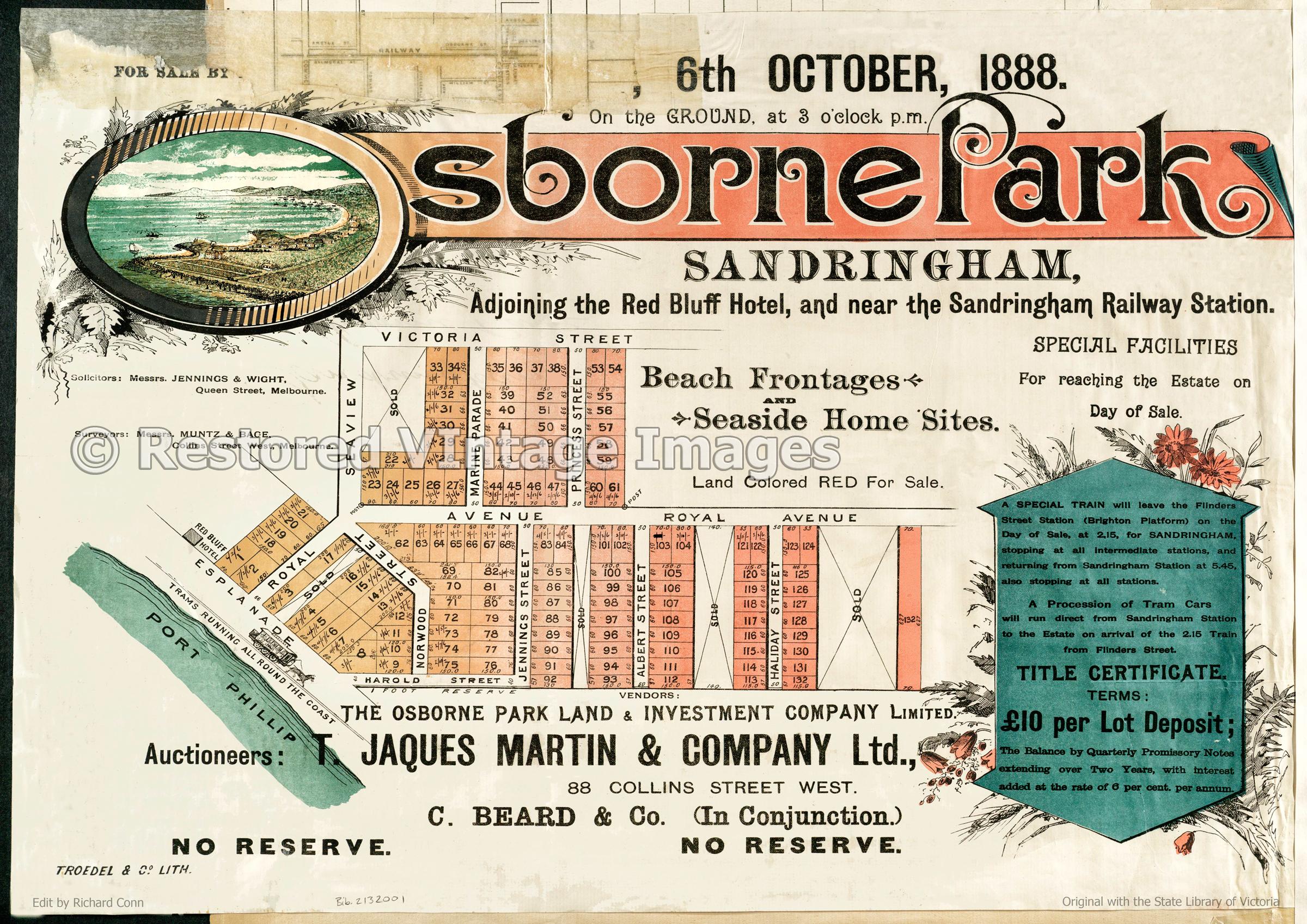 Osborne Park 1888 – Sandringham