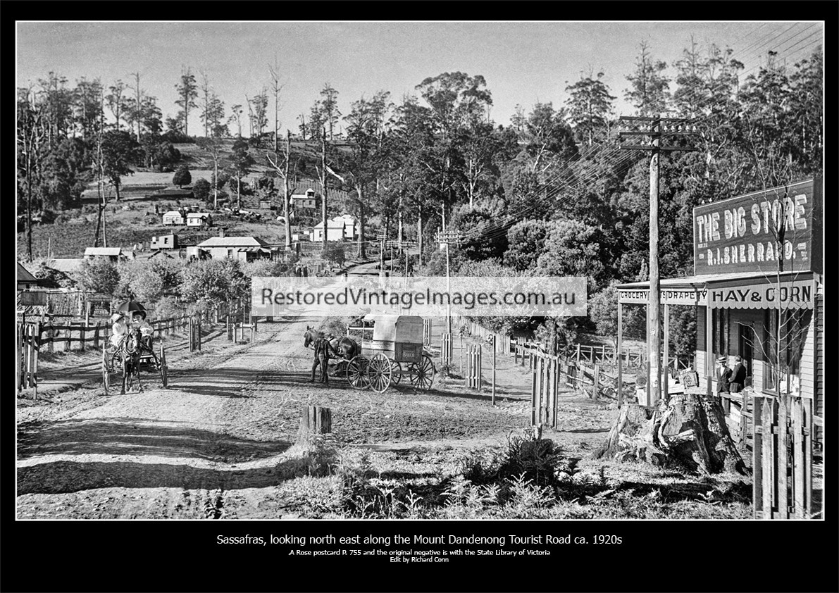 Sassafras, Looking North East Along The Mount Dandenong Tourist Road – 1920s