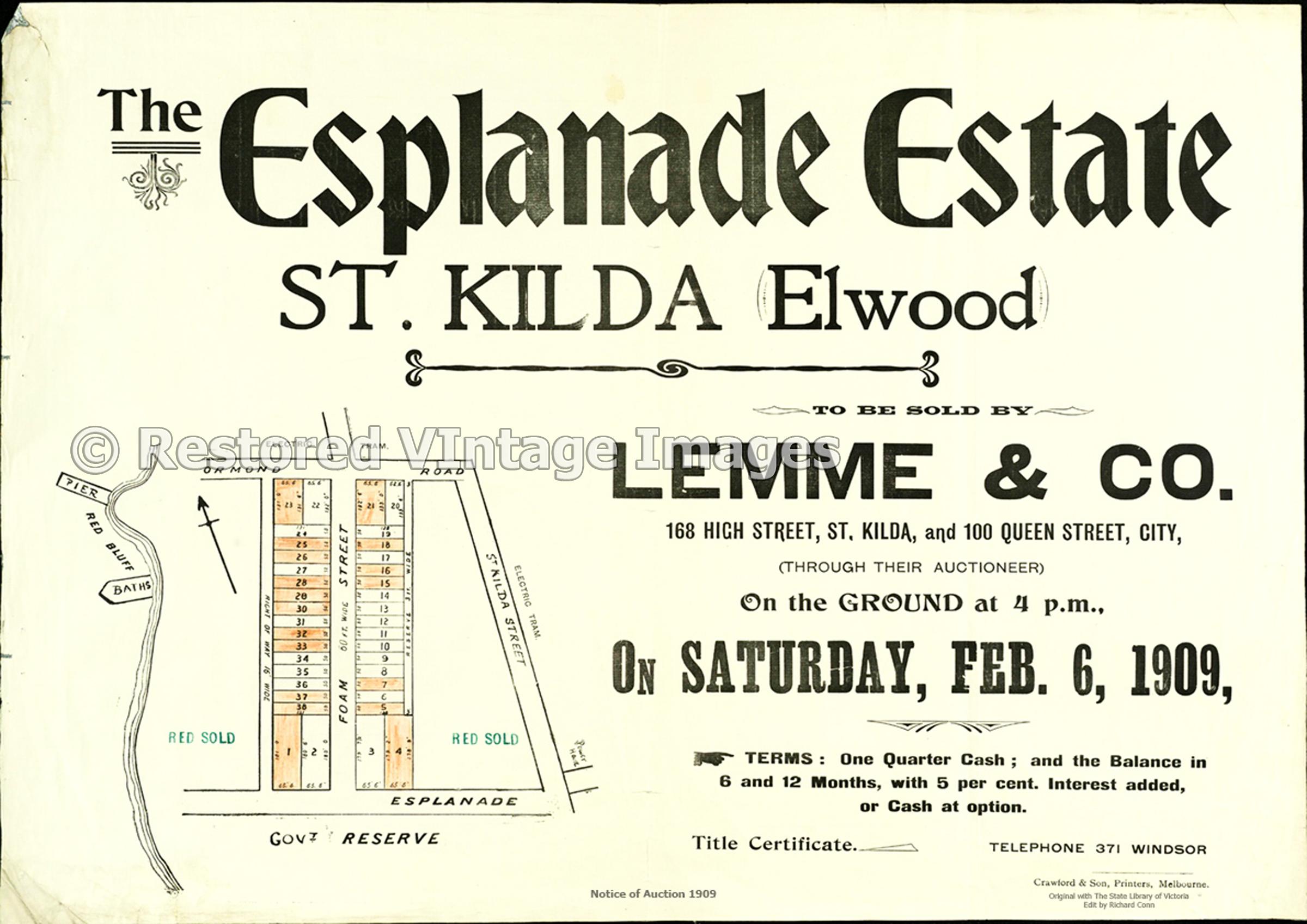 The Esplanade Estate 1909 – St Kilda Elwood