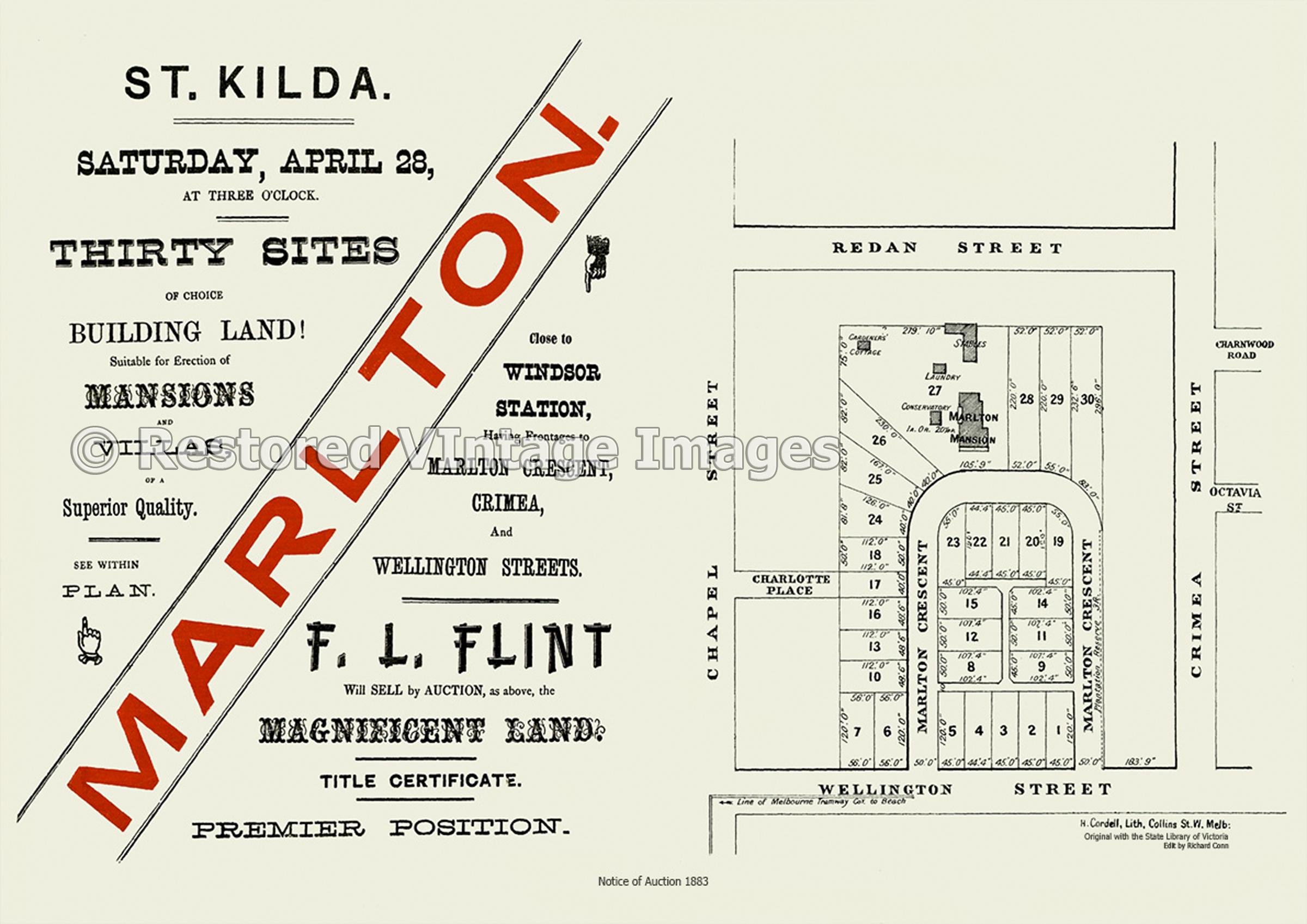 Marlton Mansion 1883 – St Kilda
