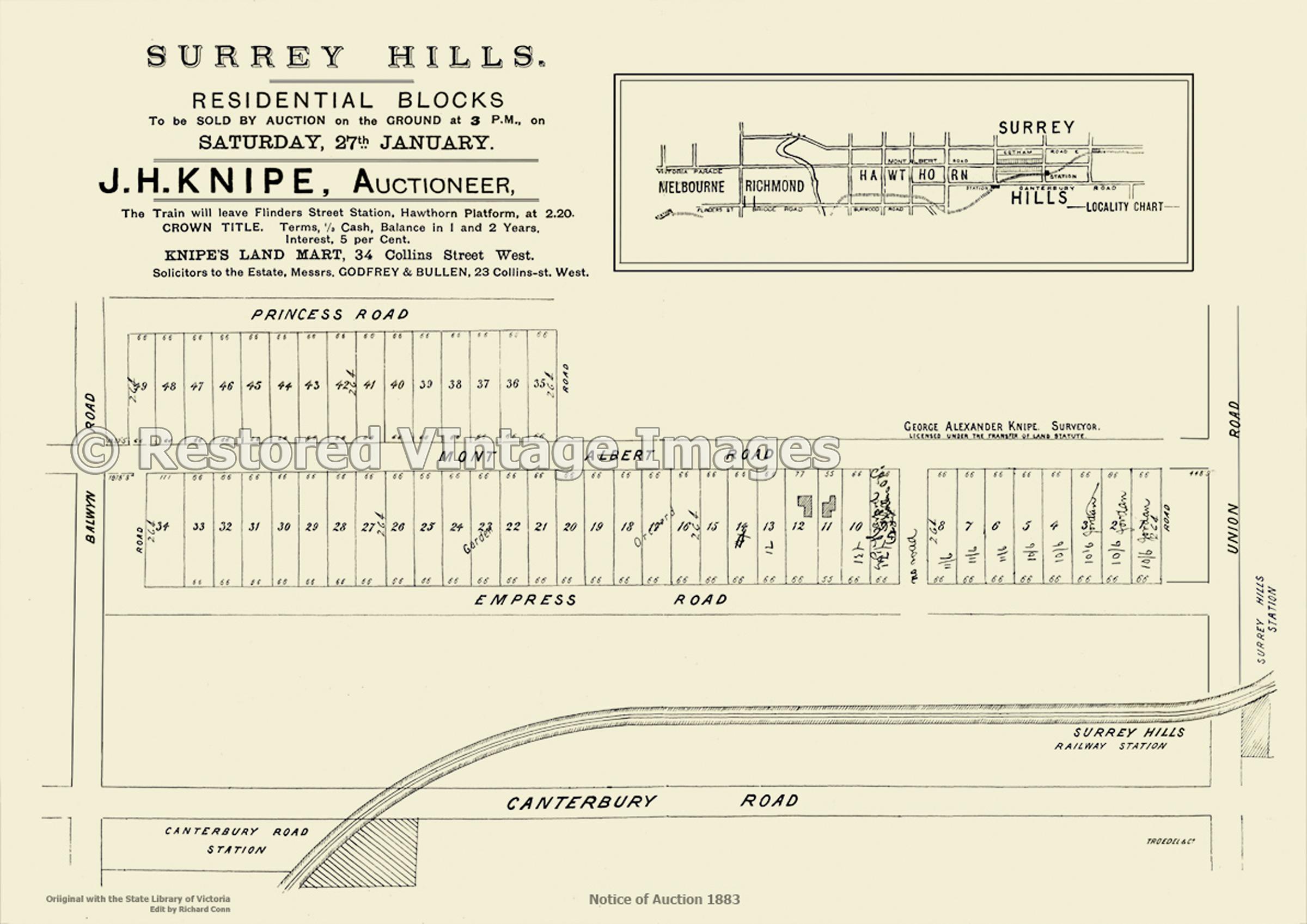 Surrey Hills Residential Blocks – 1883