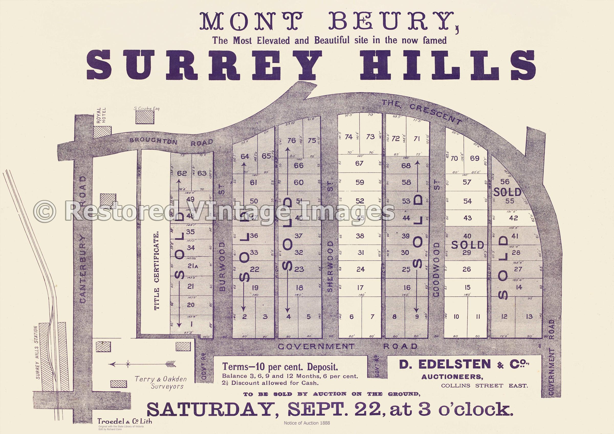 Mont Beury Surrey Hills 1888