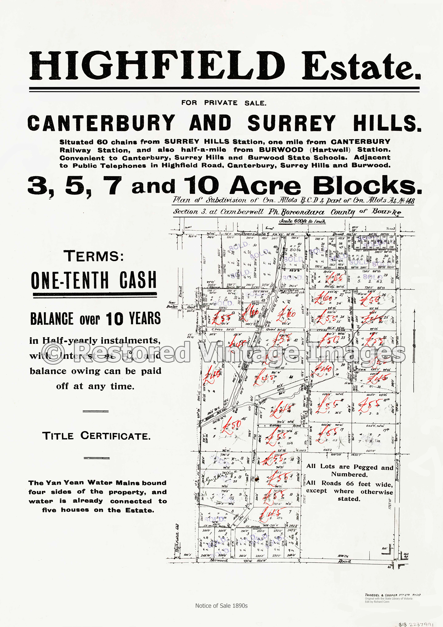 Highfield Estate 1890s – Private Sale Canterbury And Surrey Hills