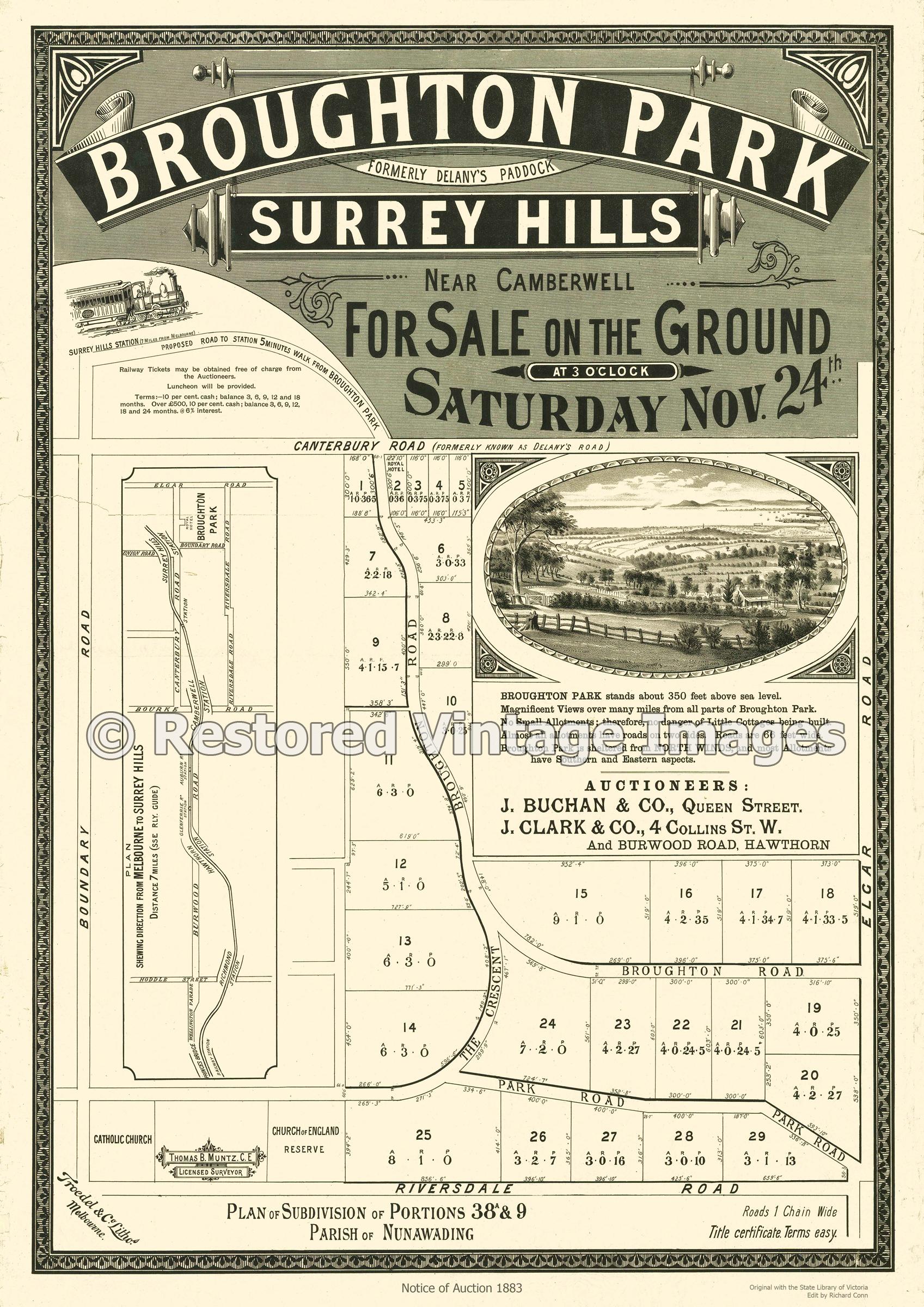 Broughton Park 1883 – Surrey Hills