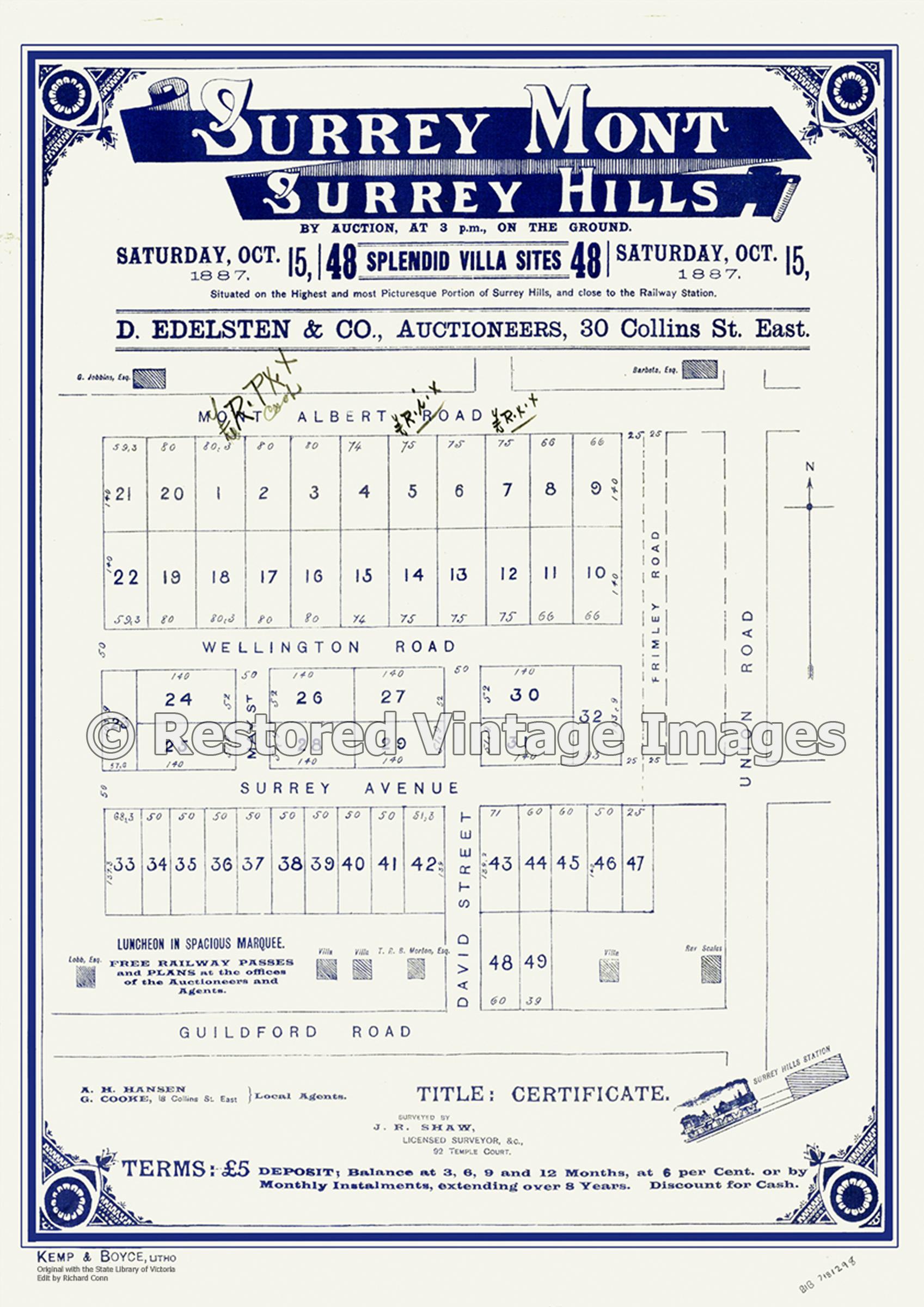 Surrey Mont Estate 1887 – Surrey Hills
