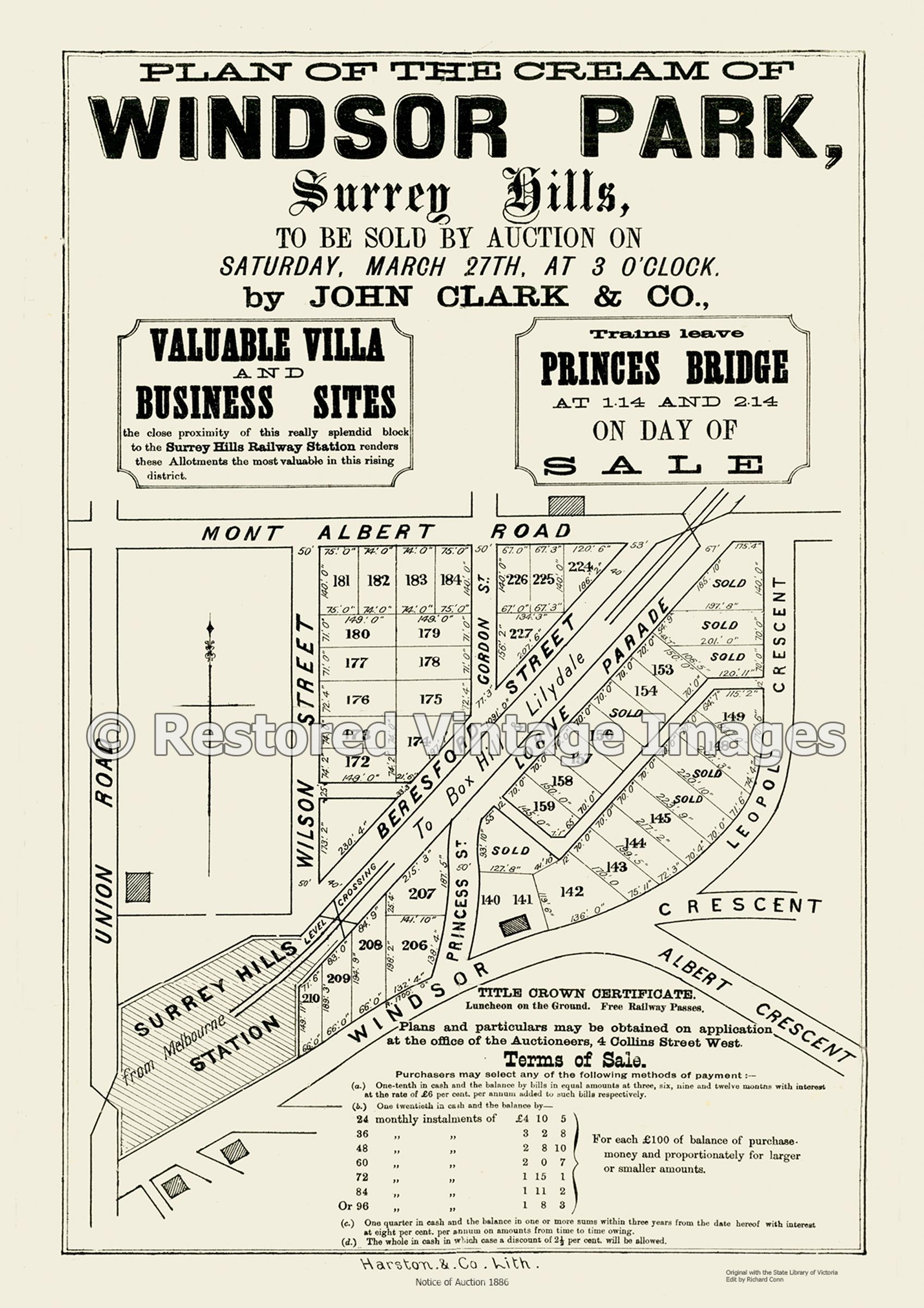 Windsor Park 1886 – Surrey Hills