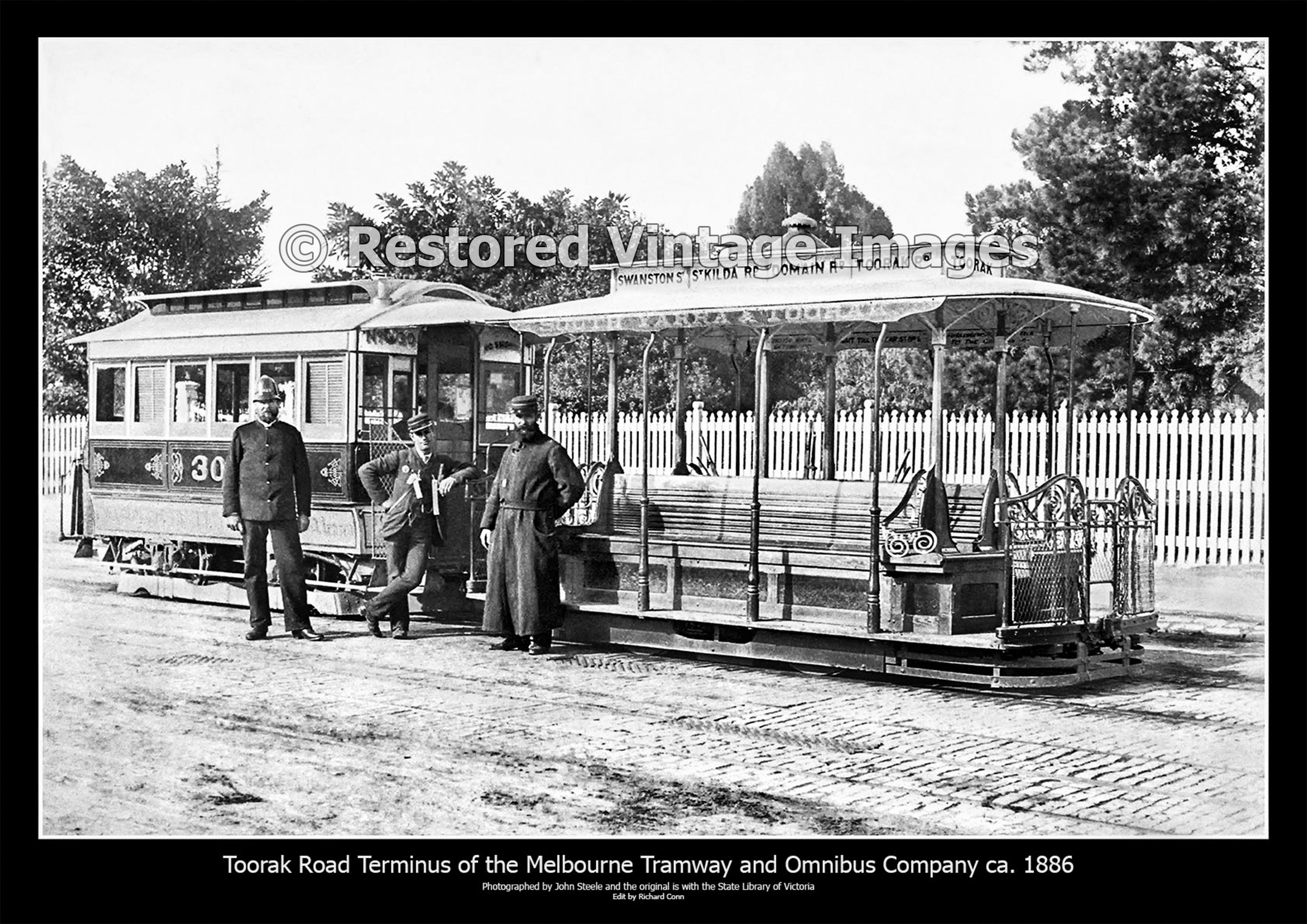 Cable Tram At Its Terminus In South Yarra 1886