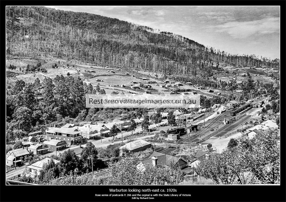 Warburton Township And Railway Ca. 1920s