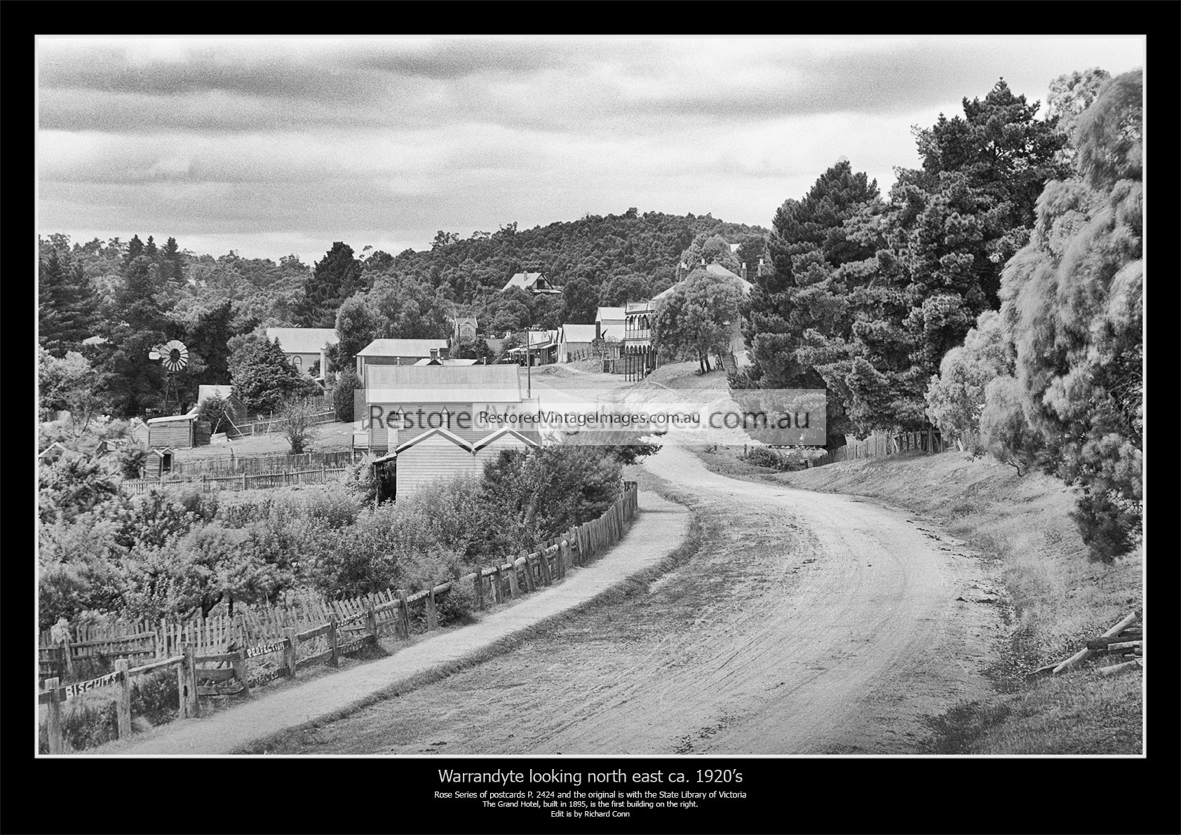 Warrandyte, Warrandyte Road Looking North East Into The Town Ca. 1920s